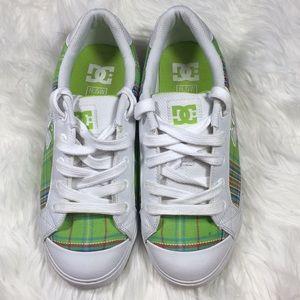 DC skate shoes green plaid 8.5